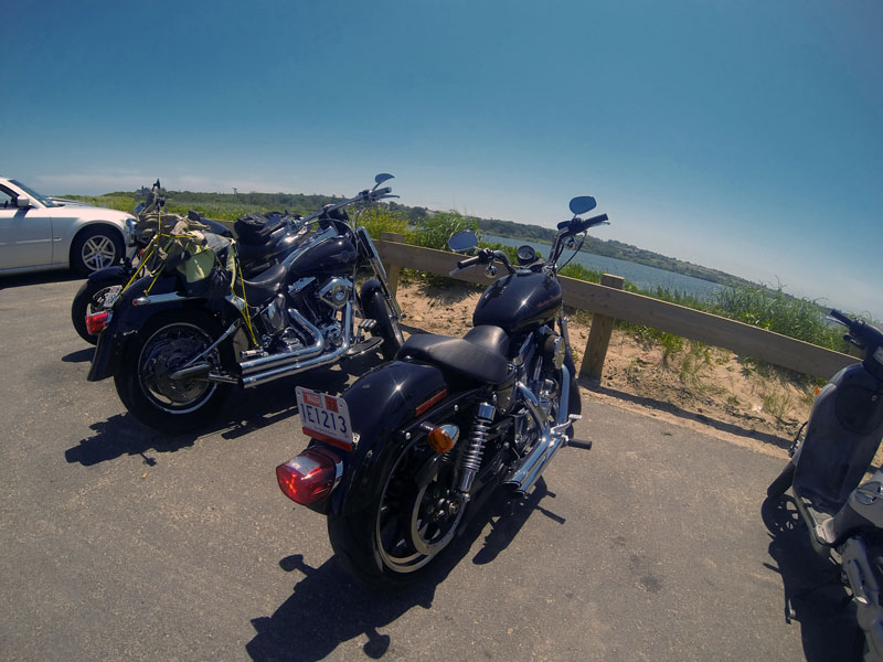 Motorcycles shot with GoPro