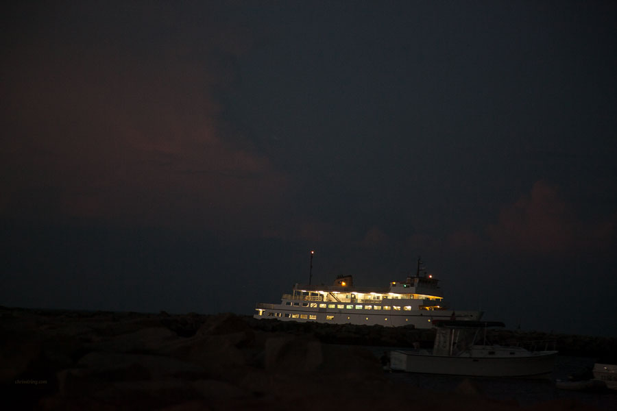 Last ferry from Port Judith leaves from Block Island