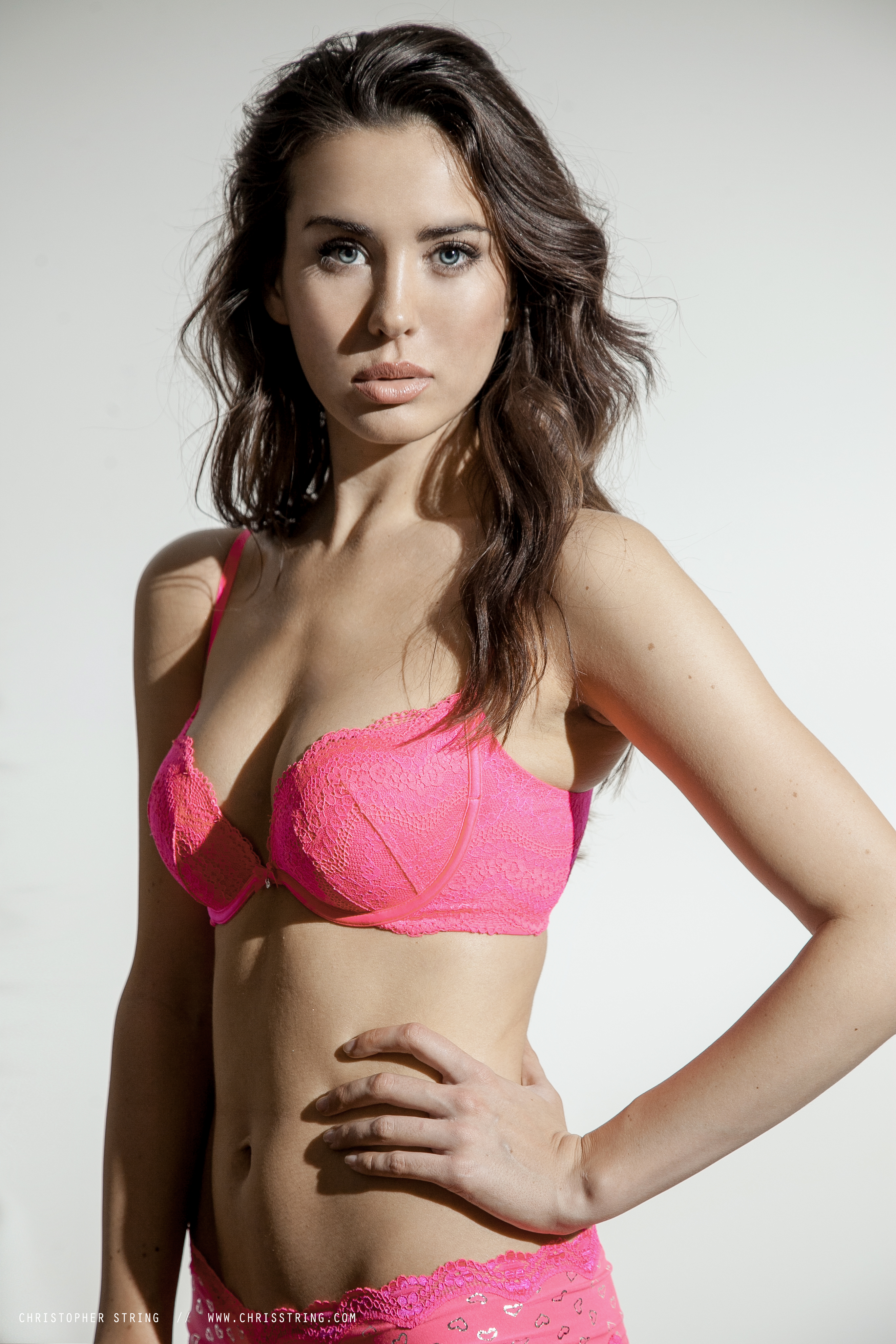 Woman in Pink Bra and underwear